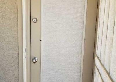 door with screen shade