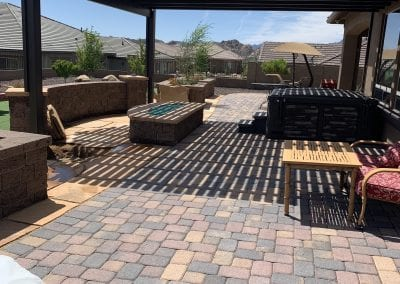 Outdoor patio with lattice cover
